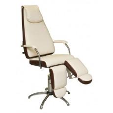 Педикюрное кресло МИЛАНА пневматическое с опорами под ноги
